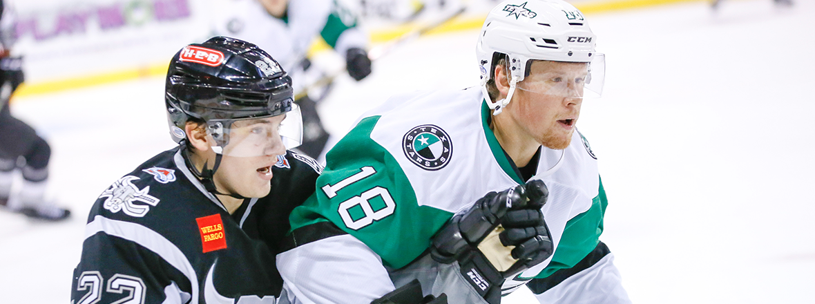 Rampage Drop Stars with Big Second Period, 6-2