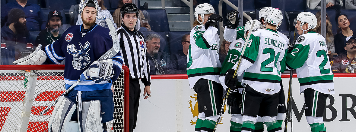 Stars Sweep Manitoba Weekend with 5-1 Win
