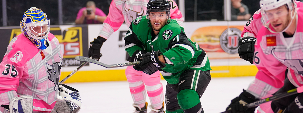 Stars Stunned Late by Rampage in 4-2 Loss