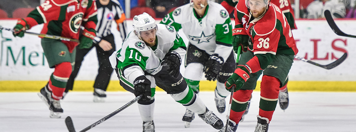 Stars Split Series in Iowa After 2-1 Loss