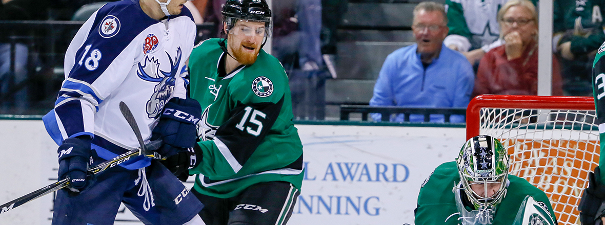 Stars Fall to Moose, 6-3