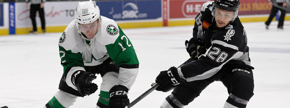 Stars Edged by Rampage in 2-1 Loss