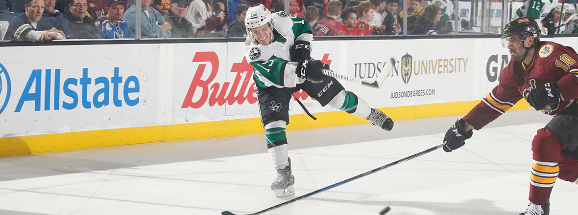 Stars End Trip with 2-1 Shootout Win over Wolves