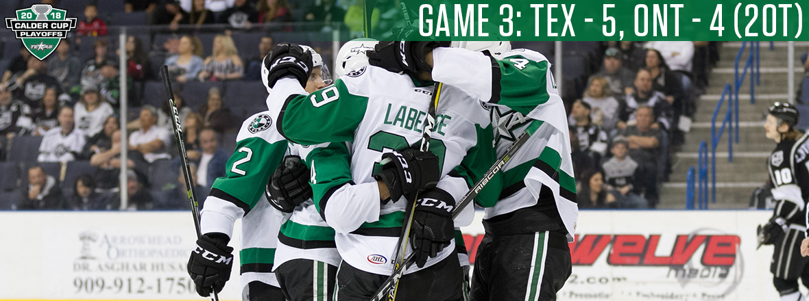 LABERGE! Stars Take 2-1 Series Lead in Marathon Thriller!