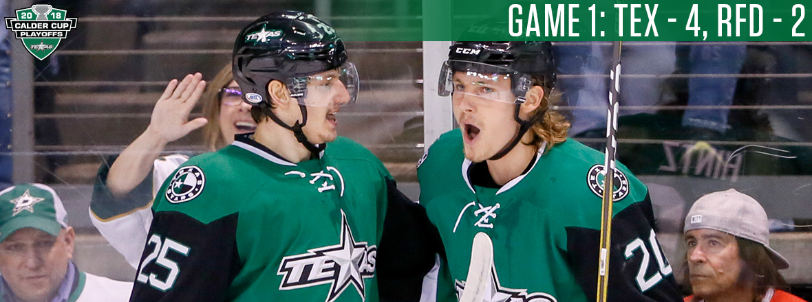 Stars Hand Hogs First Playoff Loss to Take Series Lead