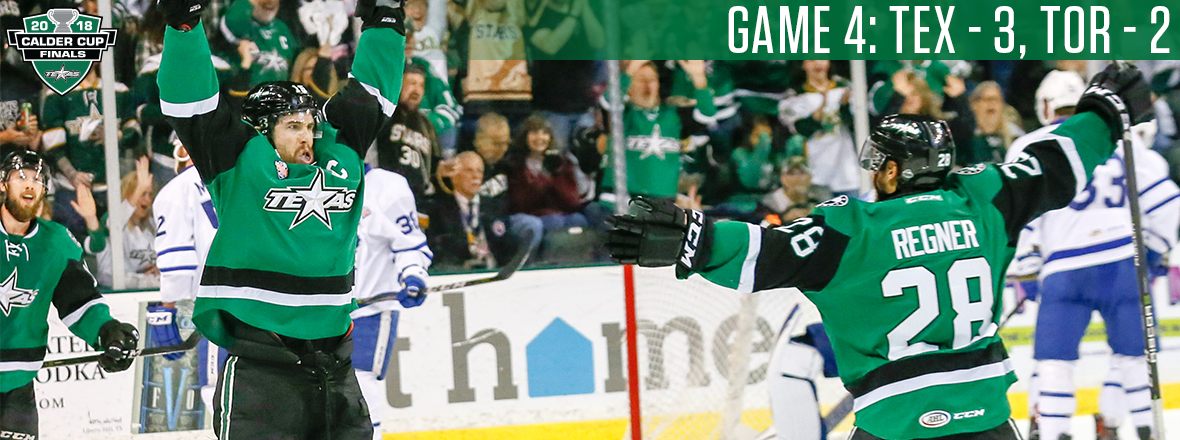 Stars Even Up Finals with Game 4 Win!