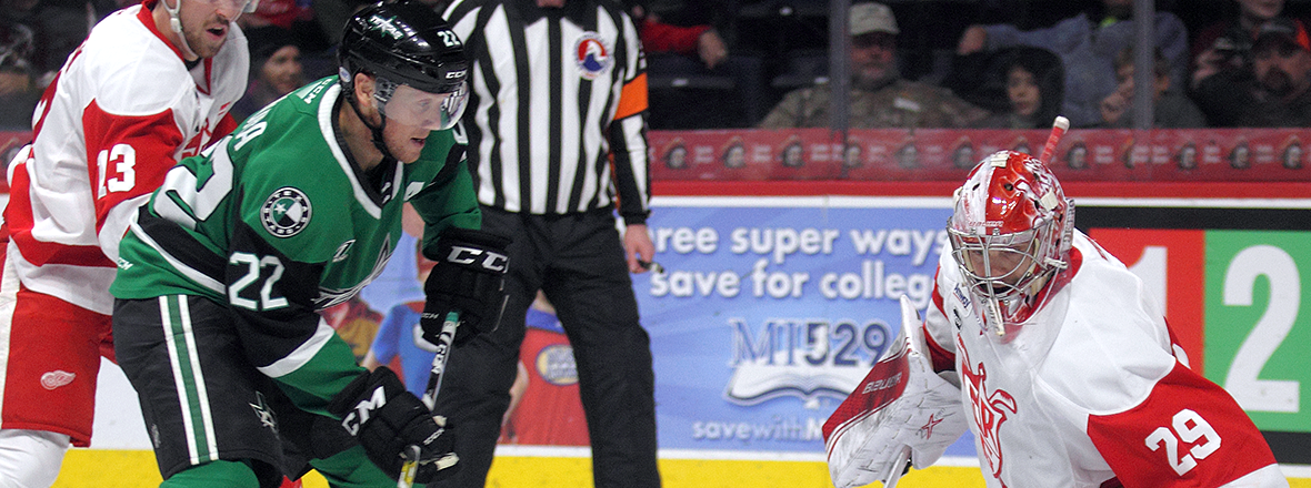 Texas Stars Fall to Red Hot Grand Rapids Griffins
