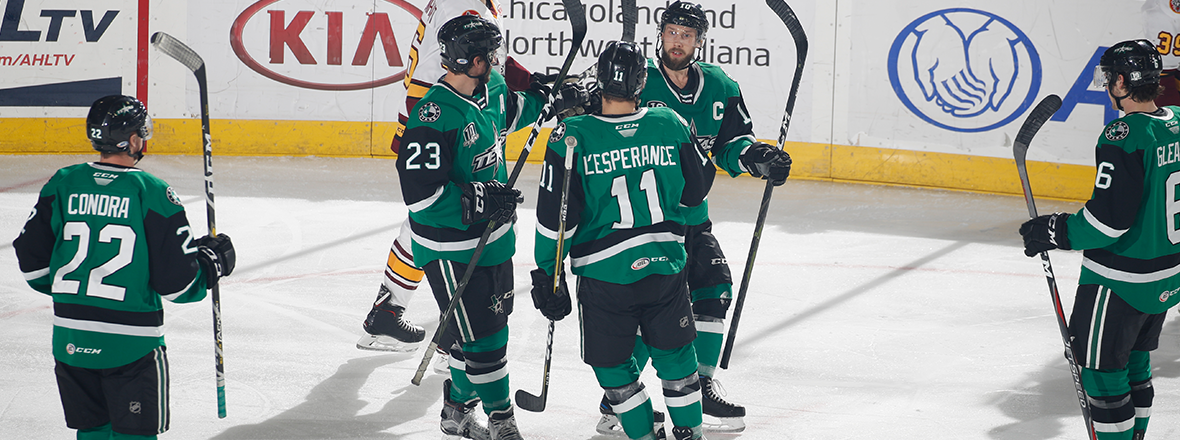 Condra, Stars End 3-In-3 with Dominant 7-4 Win
