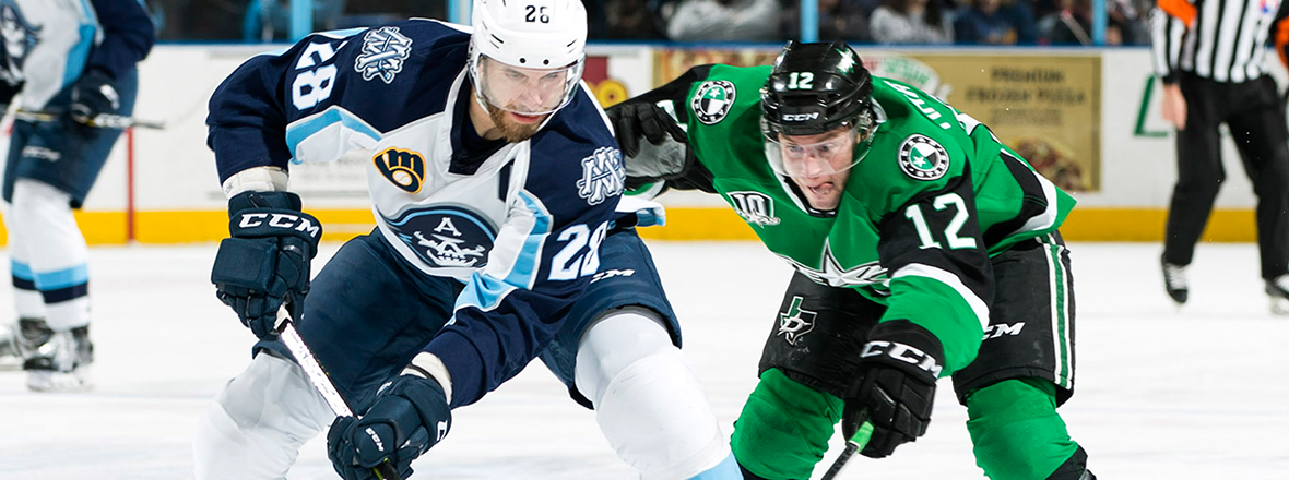 Stars Score Late Pair to Earn Point Against Admirals