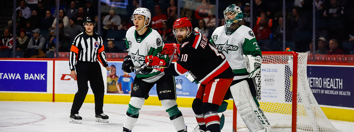 Stars Come Up Short in Grand Rapids