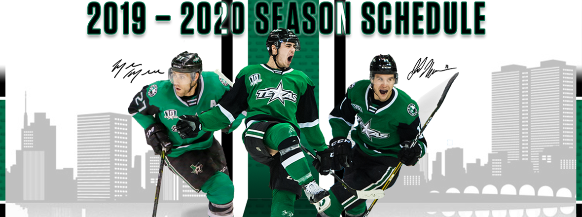 Stars Release Full 2019-20 Season Schedule