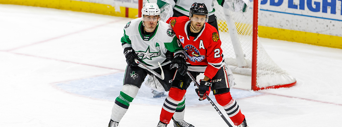 Stars Fall 5-2 to IceHogs