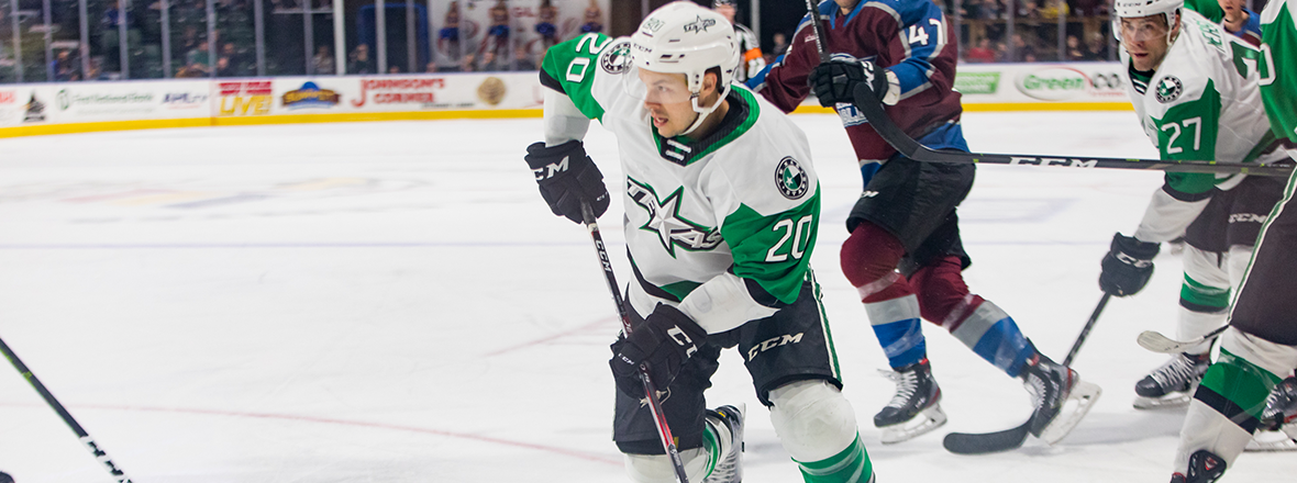 Stars Fall to Eagles 3-1 in Second Game of Road Trip