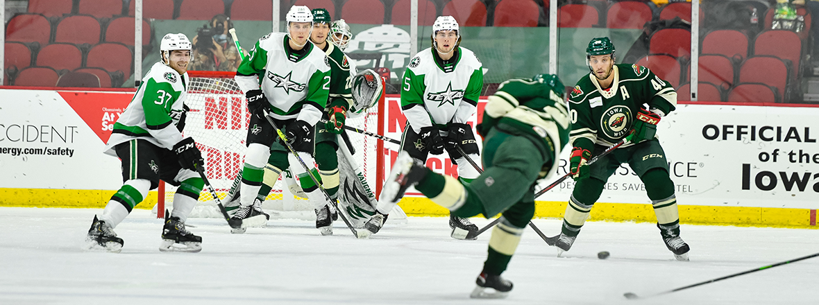 Stars Offense Halted in 4-1 Loss to Wild
