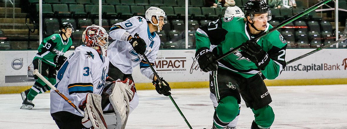 Stars Home Opener Spoiled by Barracuda in 5-2 Loss