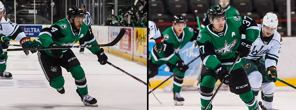 Stars Name Melnick and Baptiste Alternate Captains
