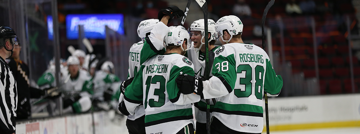 Stars Score Four Unanswered to Stun Monsters