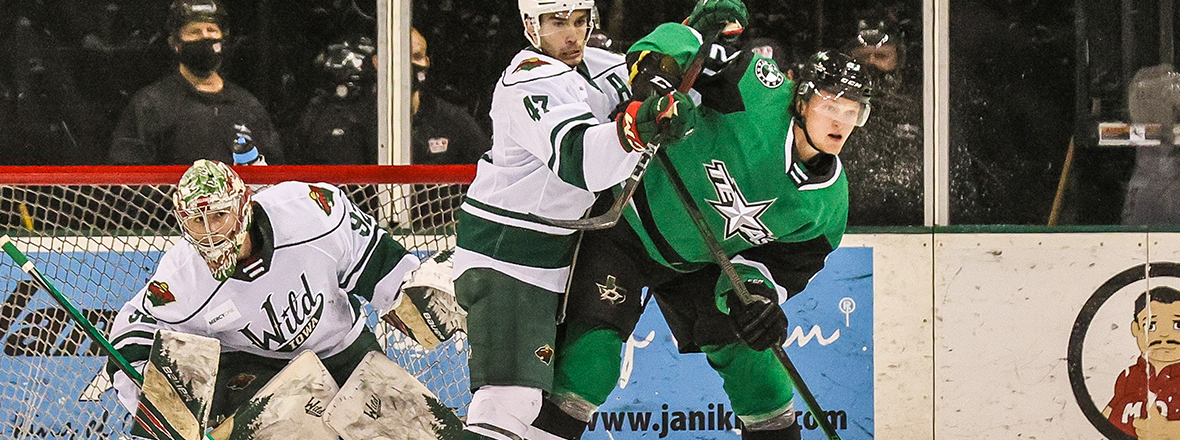 Stars Blanked by Wild in 4-0 Loss