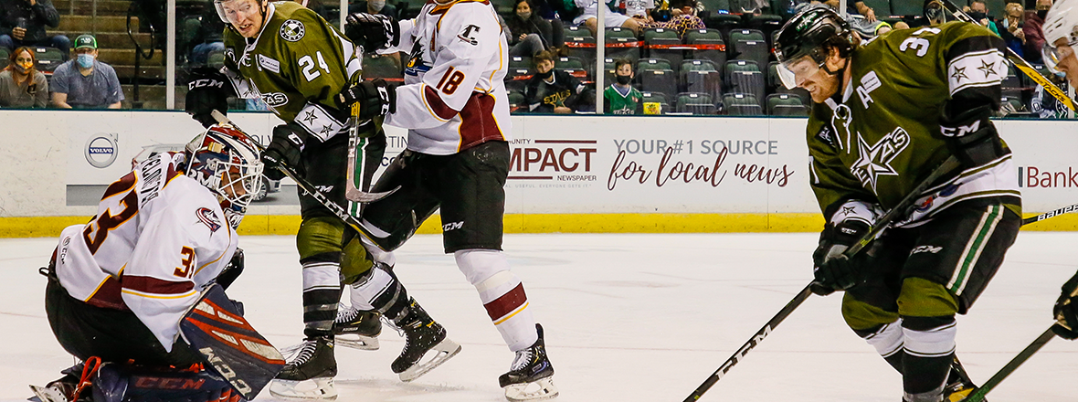 Stars Edged by Monsters in Overtime