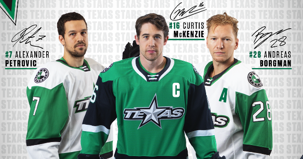 Stars Name Curtis McKenzie Captain, Alex Petrovic and Andreas Borgman as Alternate Captains thumbnail