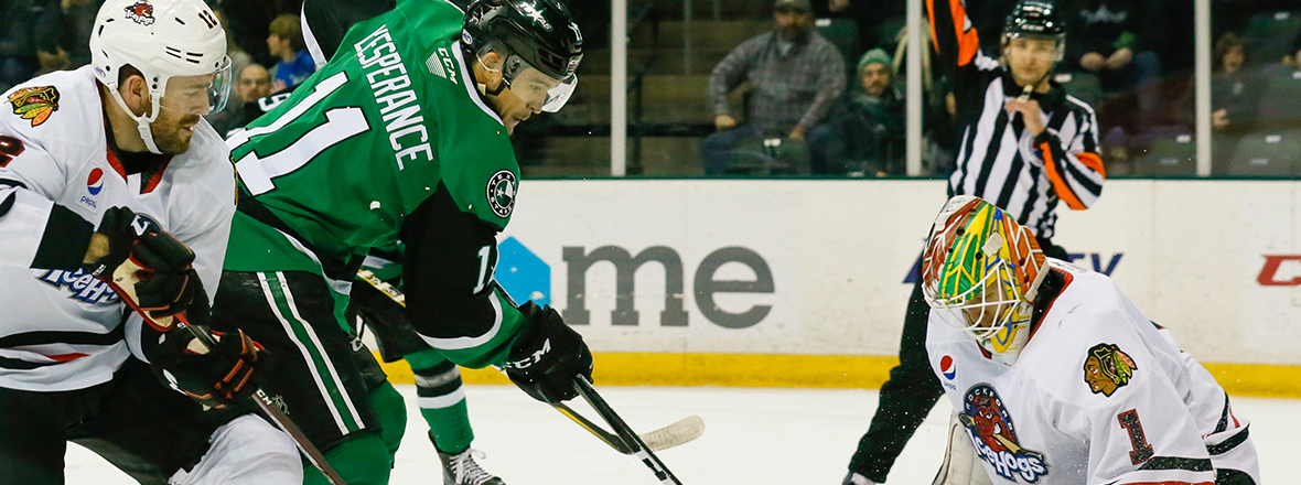 Stars Fall to IceHogs in 3-2 Shootout Battle