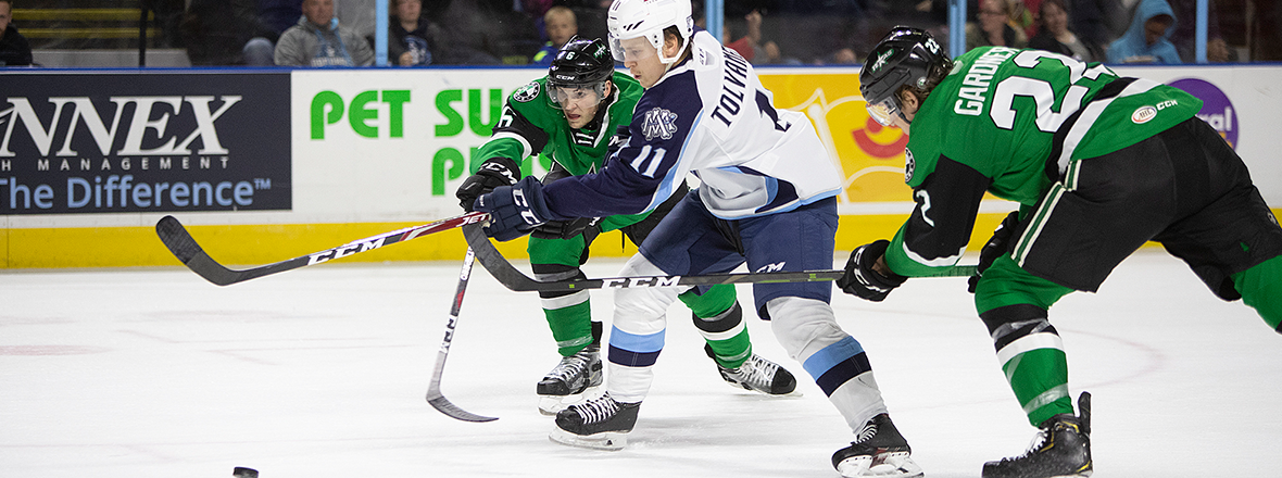 Stars End Road Trip with 6-2 Loss in Milwaukee