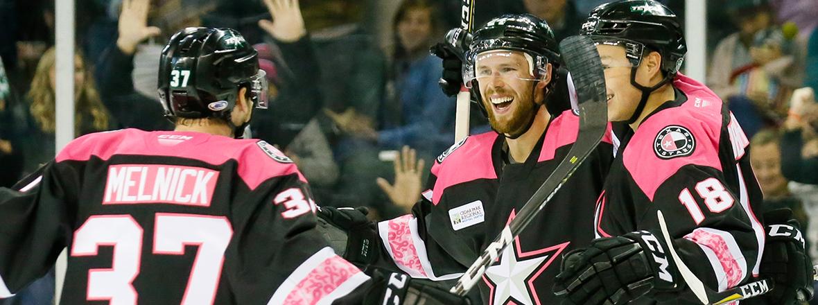Stars Stun Wild in 4-3 Victory