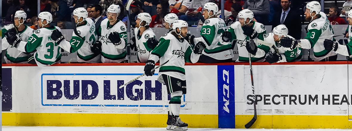 Stars Shine in Overtime in 4-3 Victory over Griffins