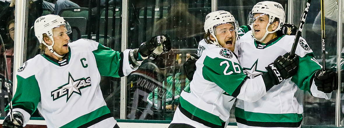 Stars Shine in 4-3 Shootout Victory over Griffins