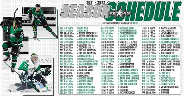 Texas Stars, AHL Reveal 2021-22 Schedule thumbnail