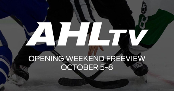AHLTV OFFERS OPENING WEEKEND FREEVIEW