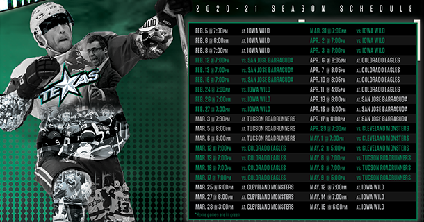 Texas Stars Reveal Complete 2020-21 Season Schedule Thumbnail